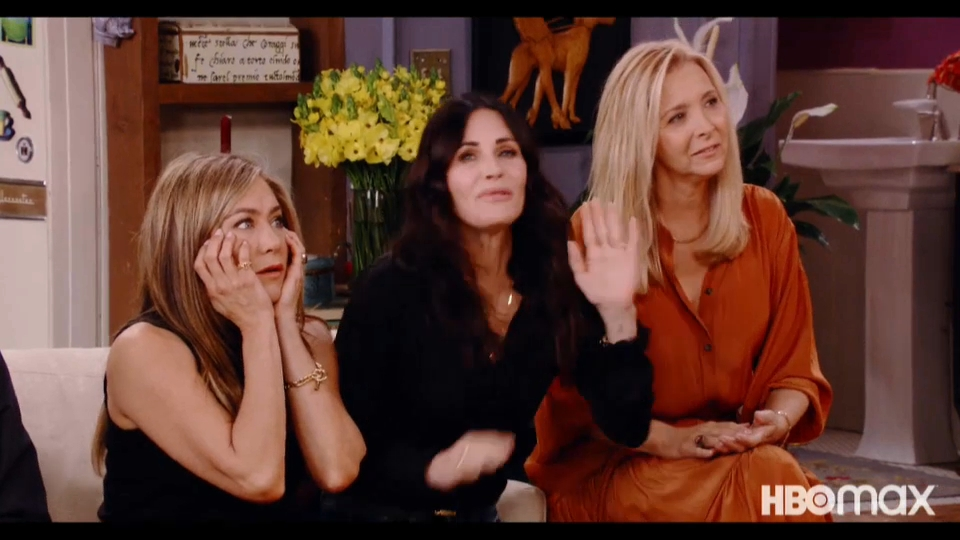 Le tre donne della serie: Jennifer Aniston, Courtney Cox e Lisa Kudrow