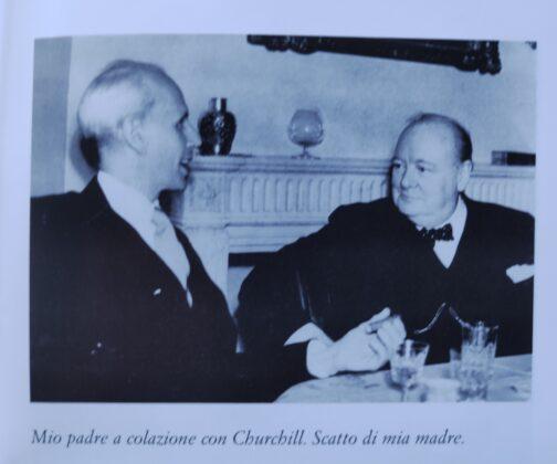 Patrizia de Blanck papà con Churchill